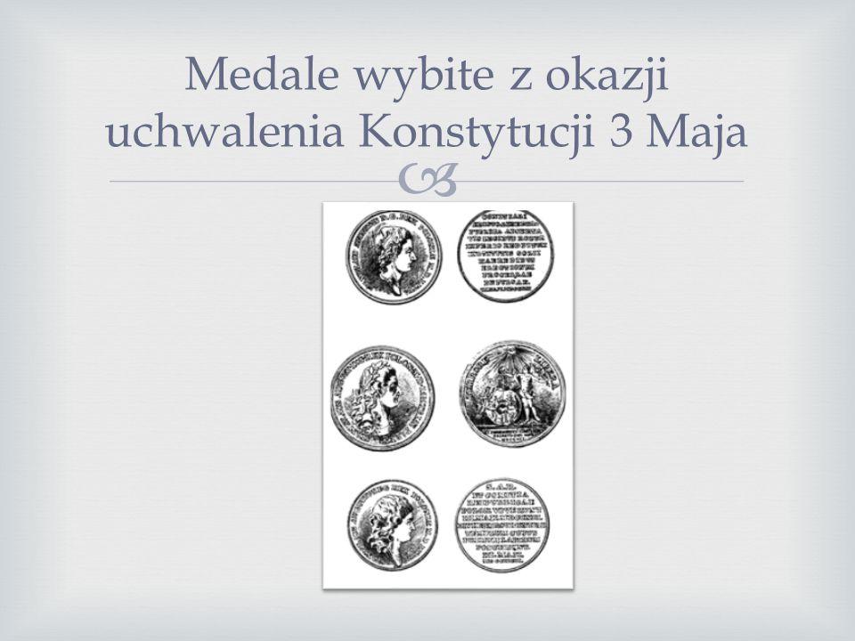 Medale wybite z okazji uchwalenia Konstytucji 3 Maja