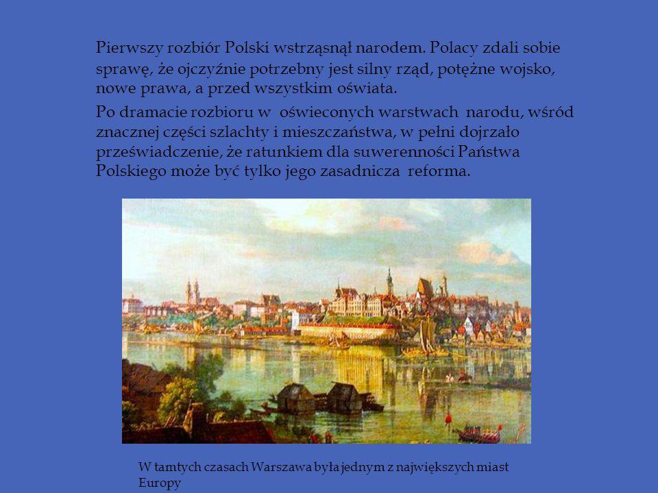 Pierwszy rozbiór Polski wstrząsnął narodem