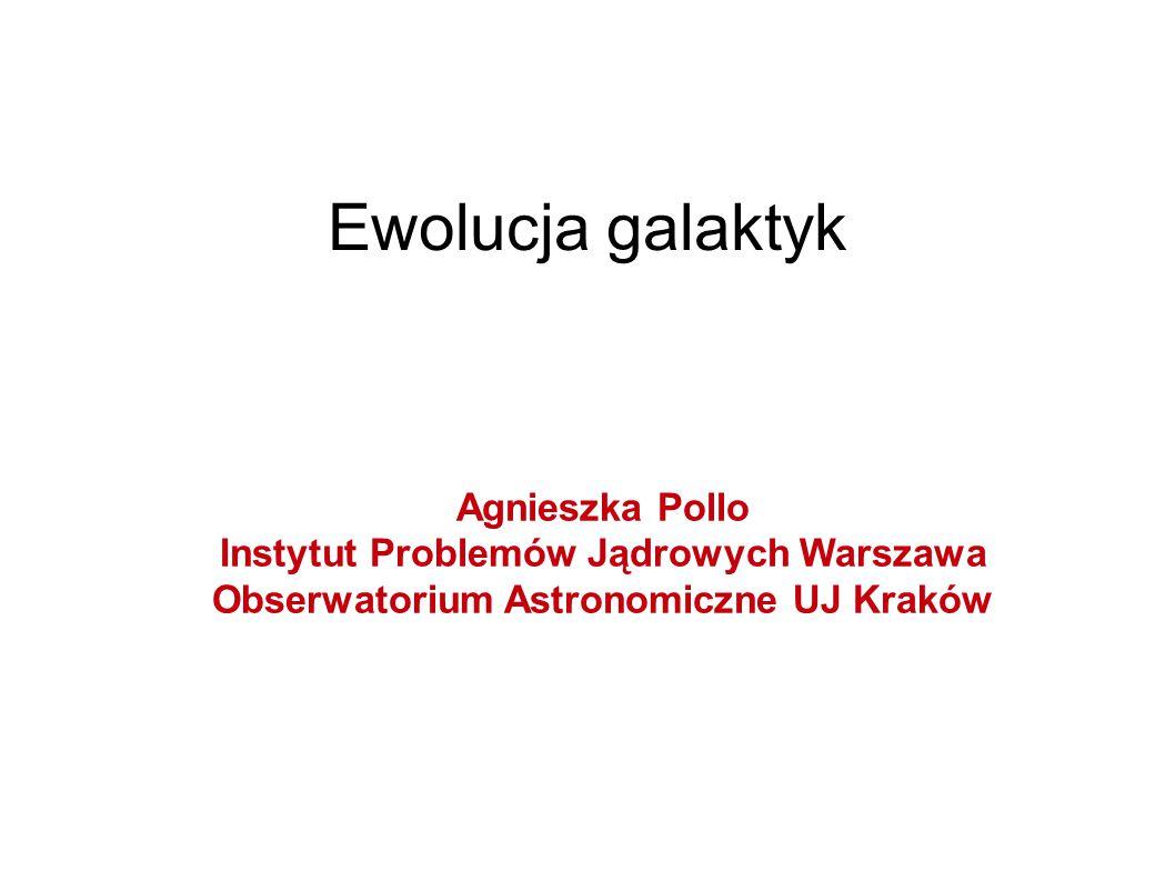 Ewolucja galaktyk Agnieszka Pollo