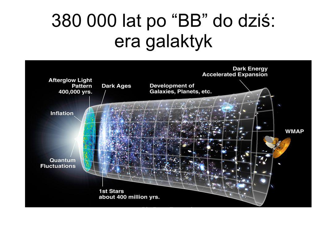 380 000 lat po BB do dziś: era galaktyk