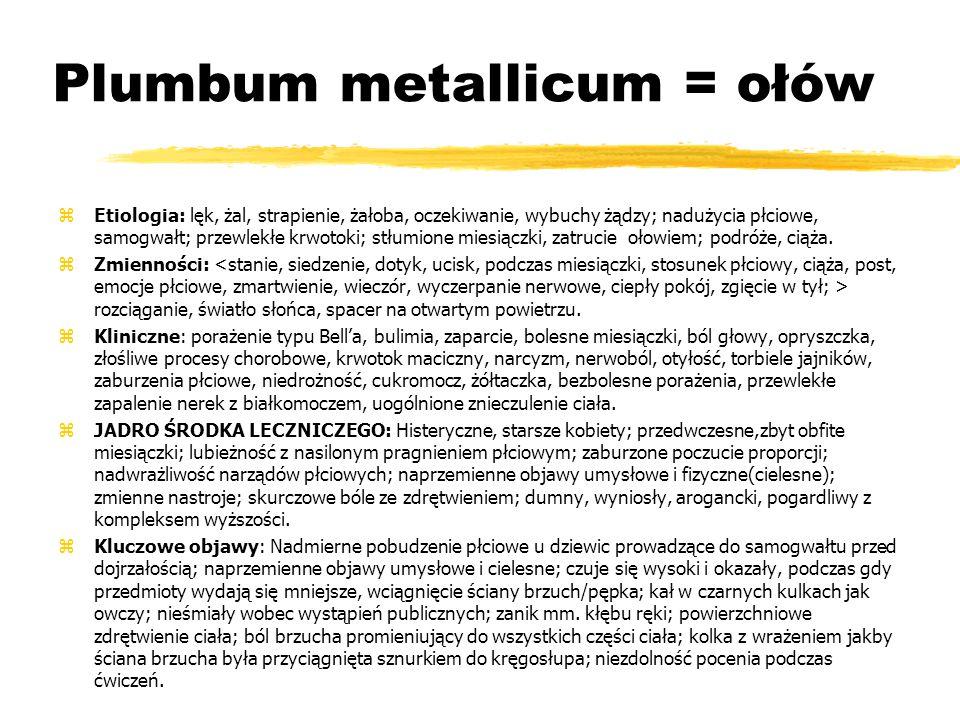 Plumbum metallicum = ołów