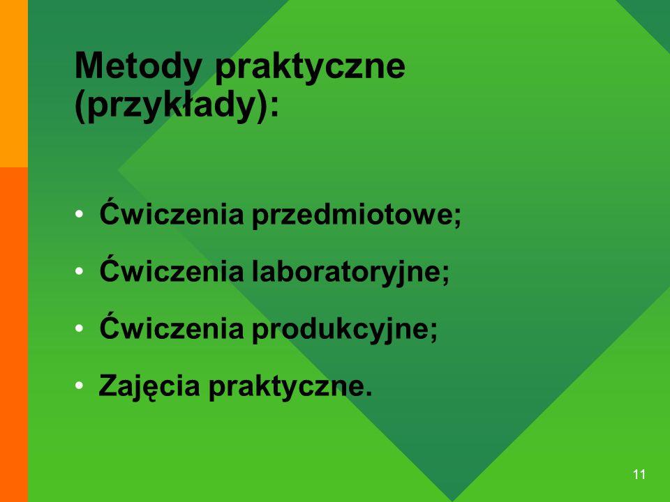 Metody praktyczne (przykłady):