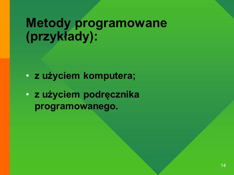 Metody programowane (przykłady):