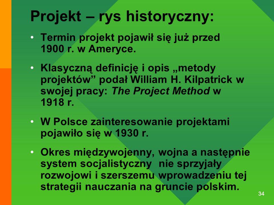 Projekt – rys historyczny: