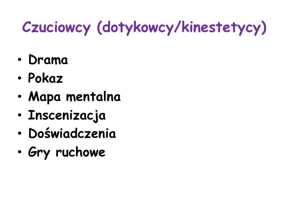 Czuciowcy (dotykowcy/kinestetycy)