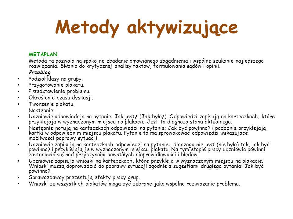 Metody aktywizujące METAPLAN