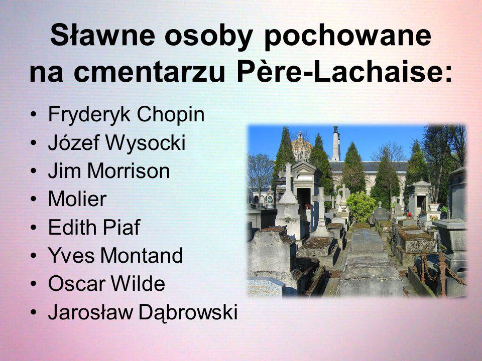 Sławne osoby pochowane na cmentarzu Père-Lachaise: