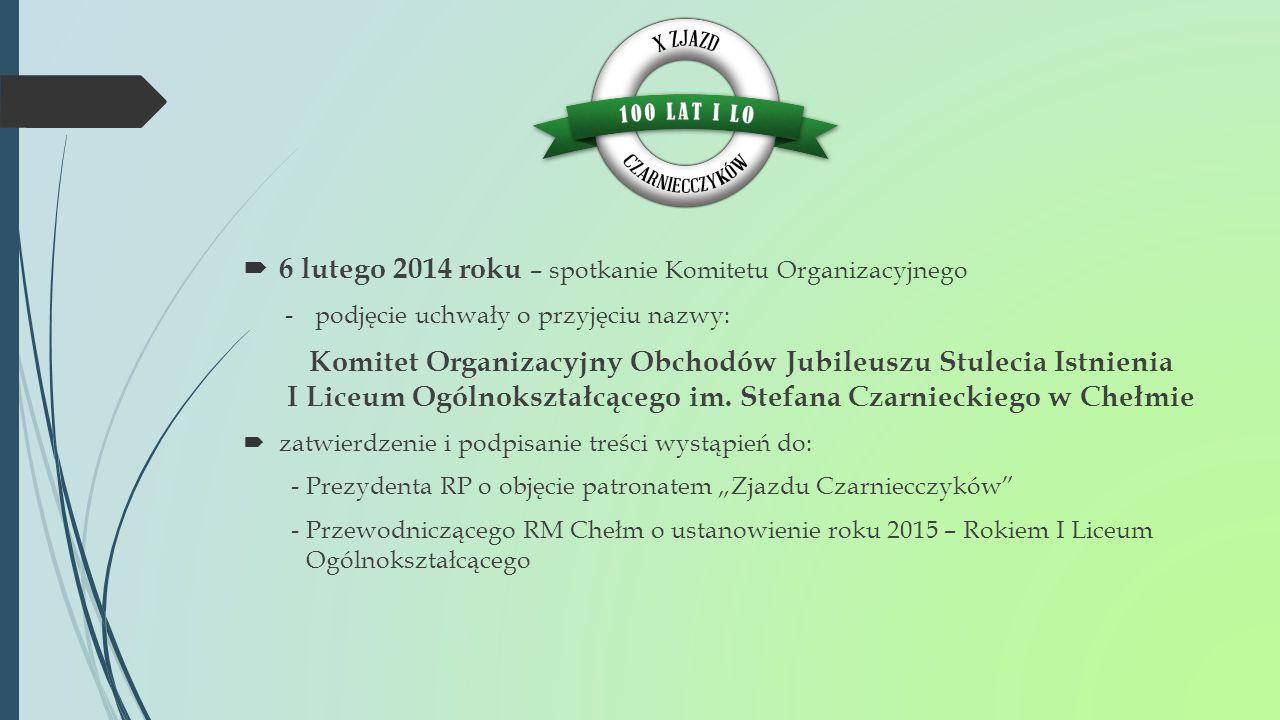 6 lutego 2014 roku – spotkanie Komitetu Organizacyjnego