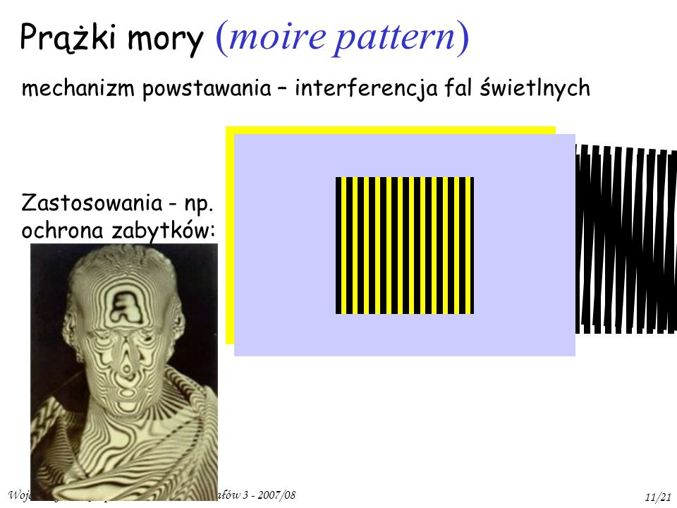 Prążki mory (moire pattern)