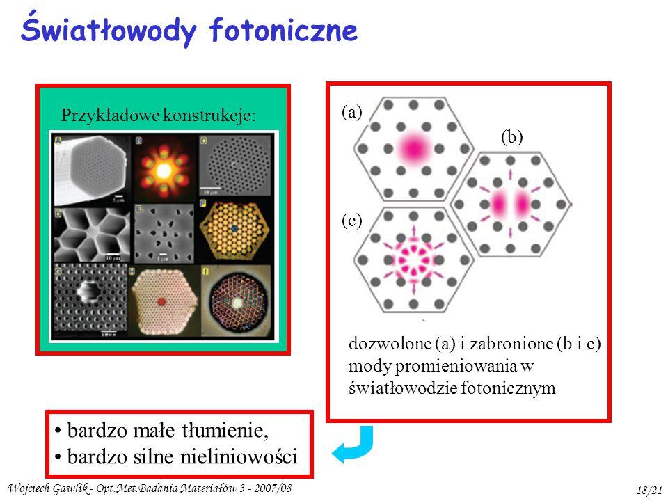 Światłowody fotoniczne