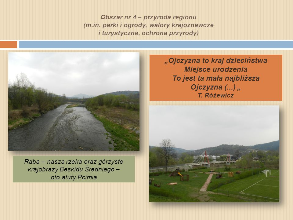 Obszar nr 4 – przyroda regionu (m. in