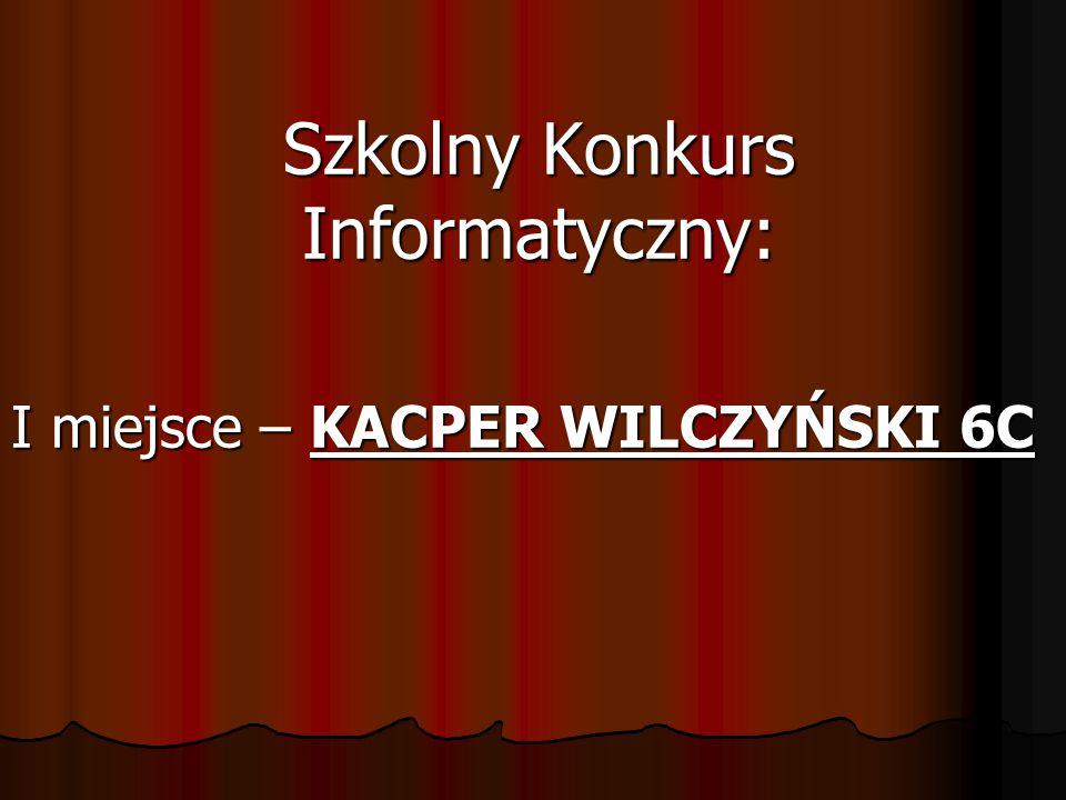 Szkolny Konkurs Informatyczny: