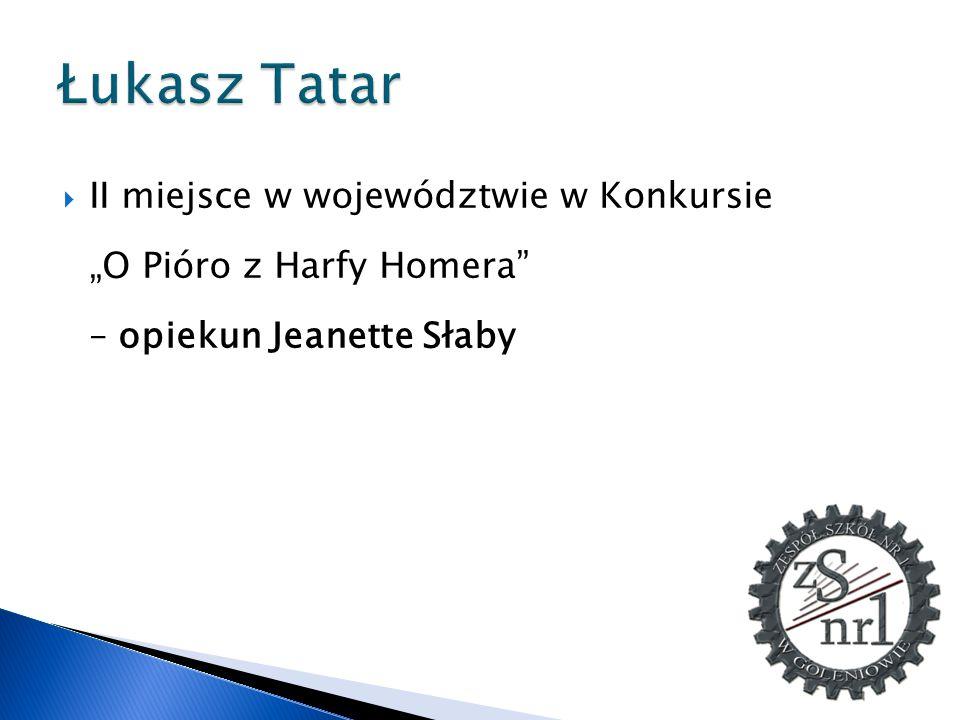 Łukasz Tatar II miejsce w województwie w Konkursie