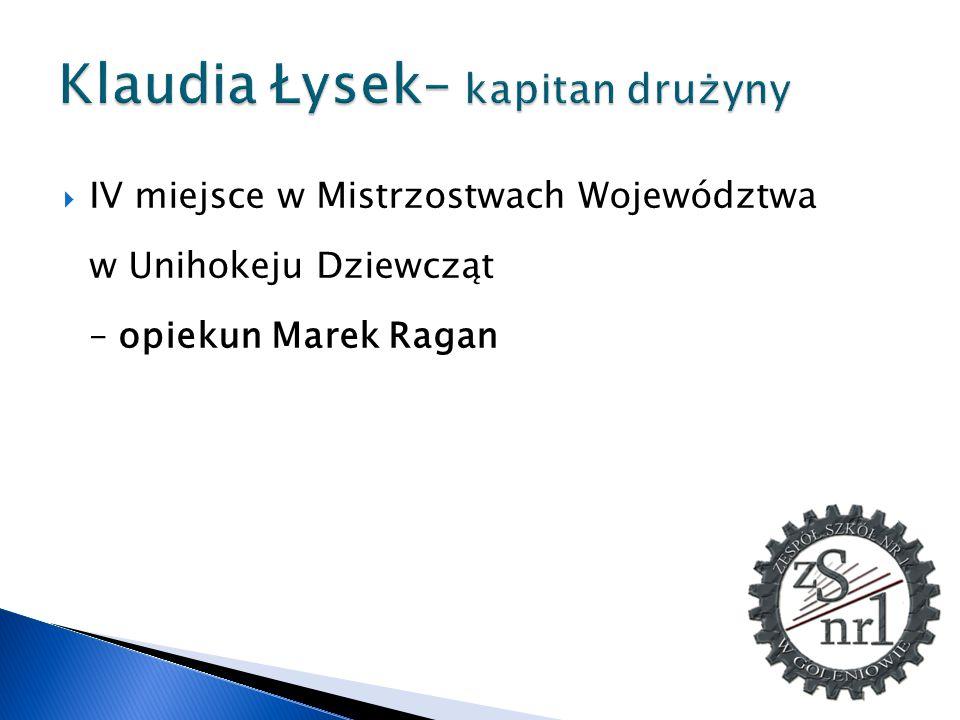 Klaudia Łysek– kapitan drużyny