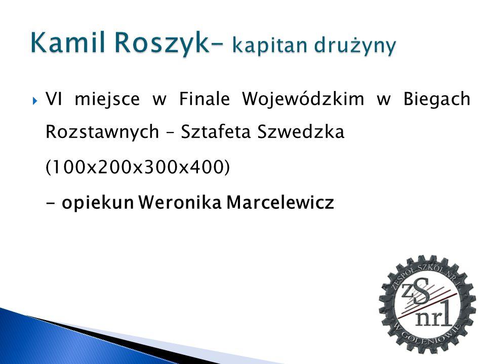Kamil Roszyk– kapitan drużyny