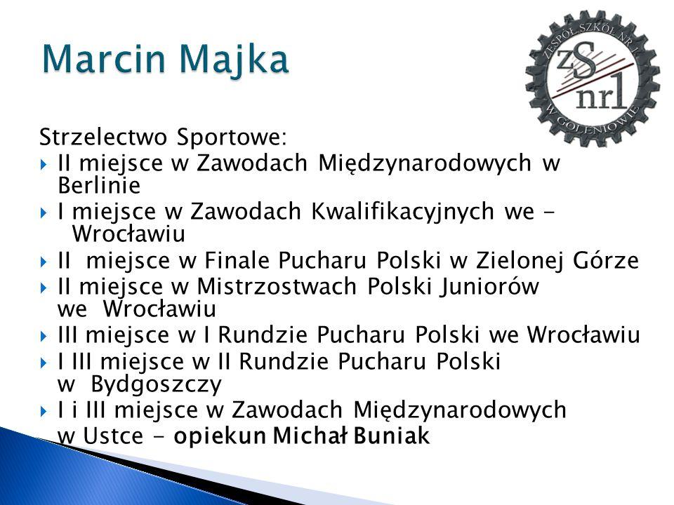 Marcin Majka Strzelectwo Sportowe: