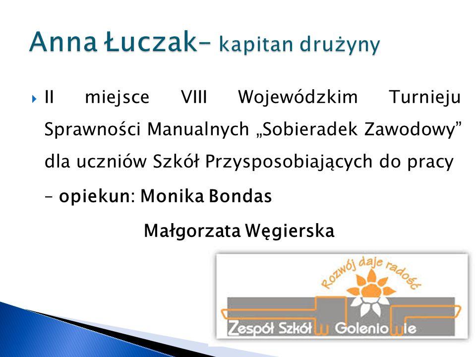 Anna Łuczak– kapitan drużyny