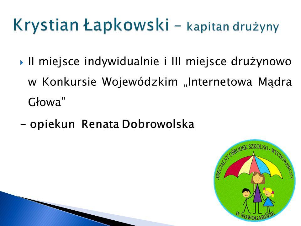 Krystian Łapkowski – kapitan drużyny