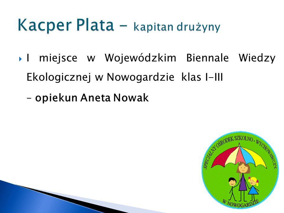Kacper Plata - kapitan drużyny