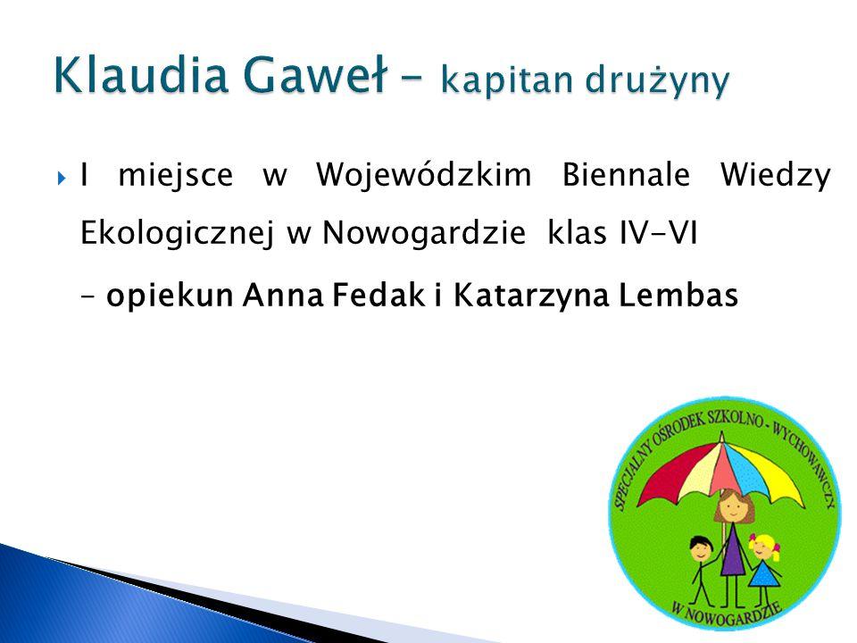 Klaudia Gaweł – kapitan drużyny