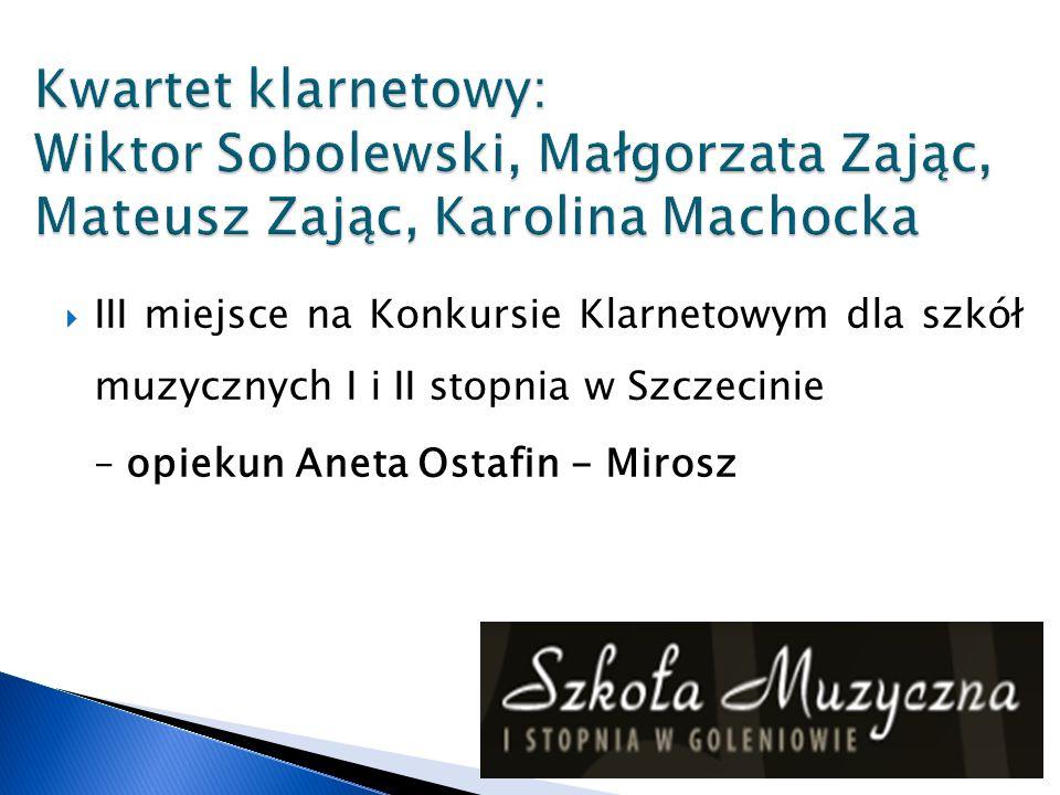 Kwartet klarnetowy: Wiktor Sobolewski, Małgorzata Zając, Mateusz Zając, Karolina Machocka