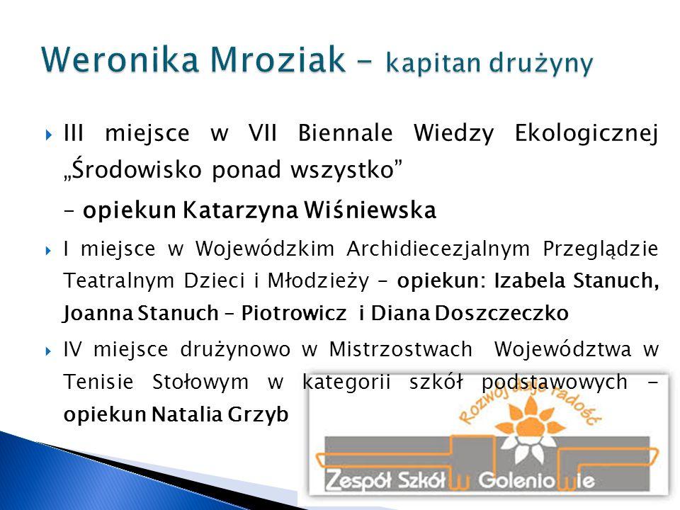 Weronika Mroziak – kapitan drużyny