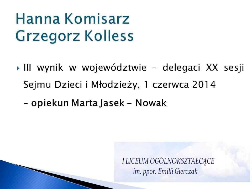 Hanna Komisarz Grzegorz Kolless