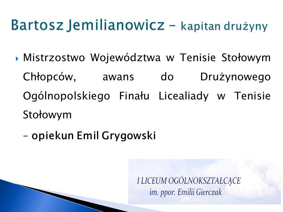 Bartosz Jemilianowicz – kapitan drużyny