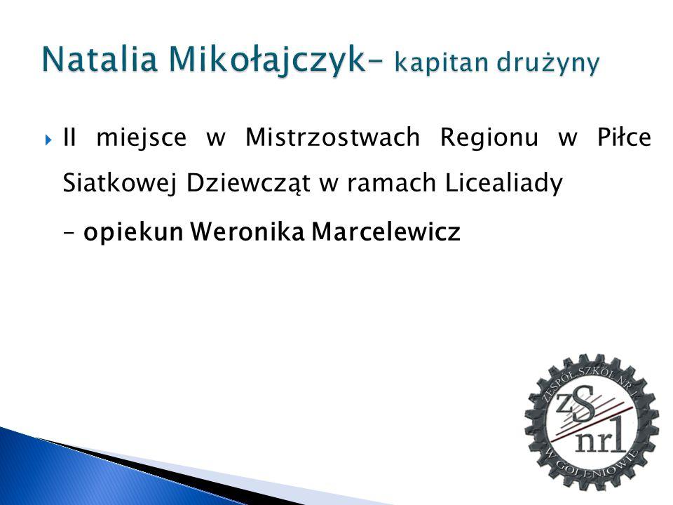 Natalia Mikołajczyk– kapitan drużyny