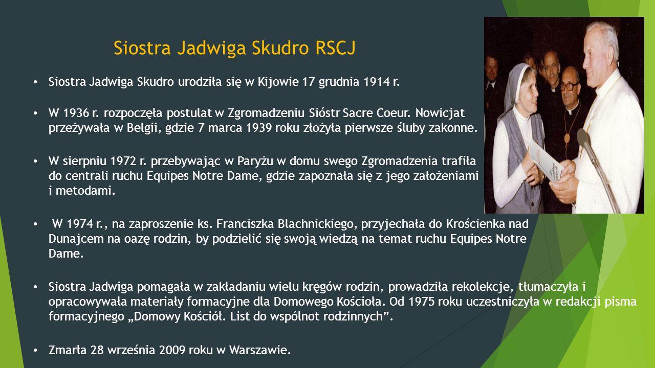 Siostra Jadwiga Skudro RSCJ