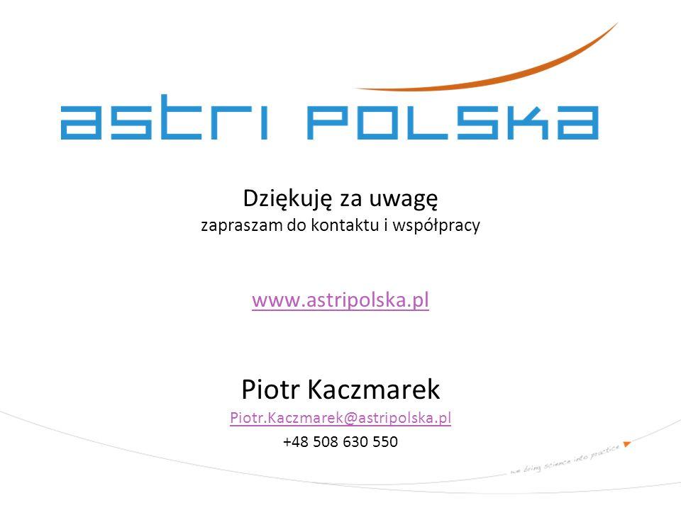 Piotr Kaczmarek Piotr.Kaczmarek@astripolska.pl