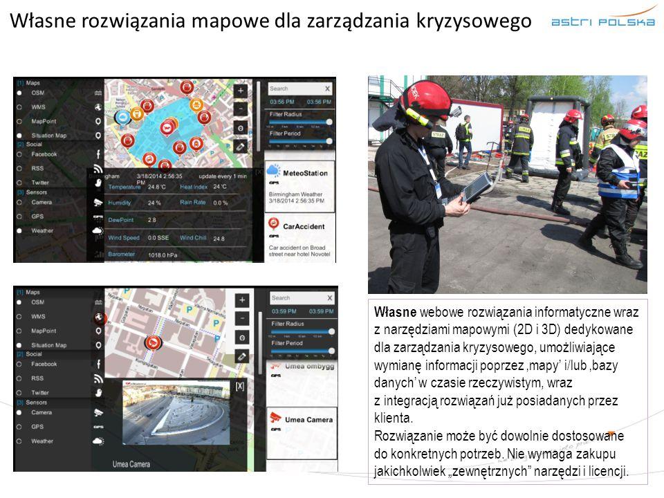 Własne rozwiązania mapowe dla zarządzania kryzysowego