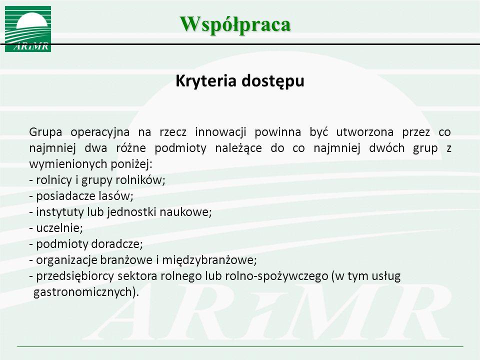 Współpraca Kryteria dostępu