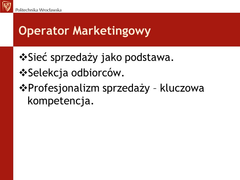 Operator Marketingowy