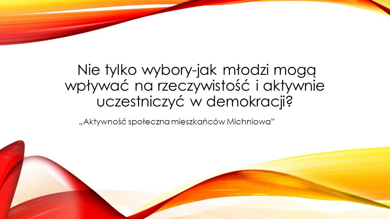 """""""Aktywność społeczna mieszkańców Michniowa"""