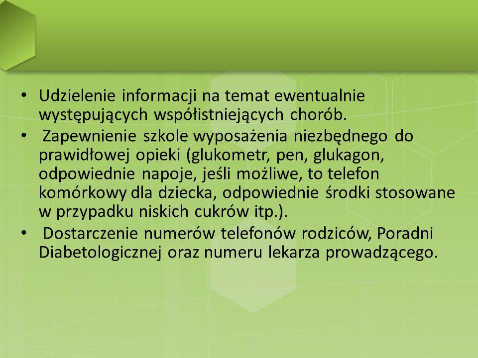 Udzielenie informacji na temat ewentualnie występujących współistniejących chorób.