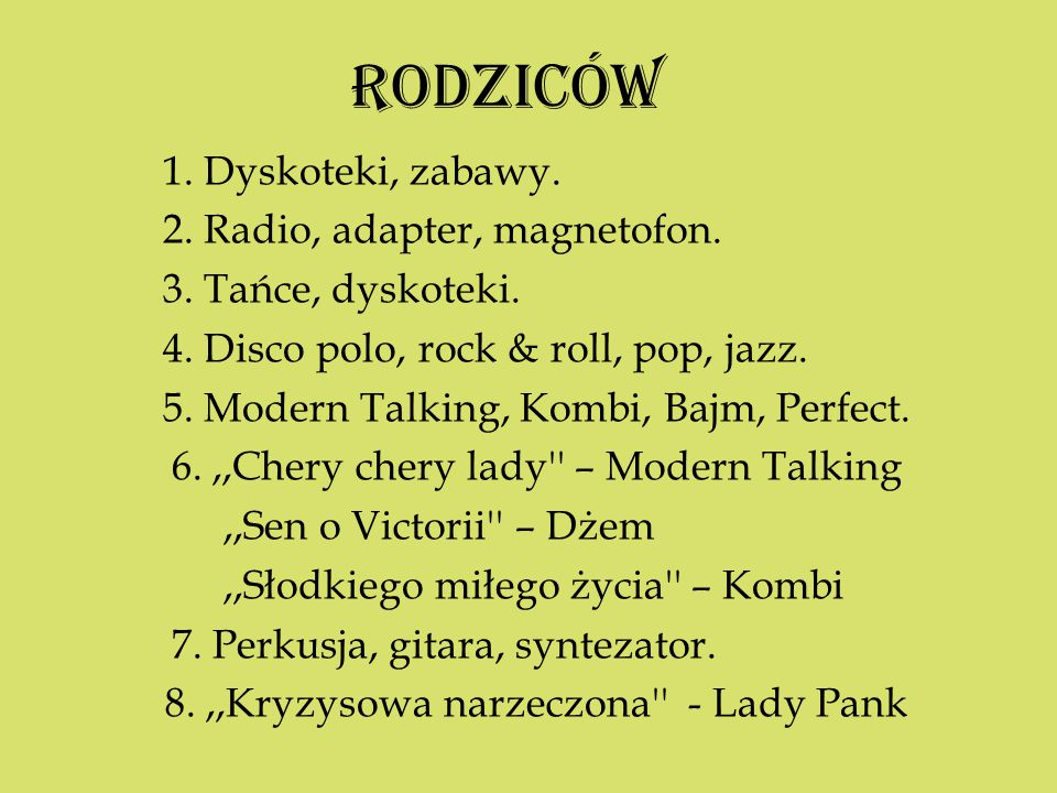 8. ,,Kryzysowa narzeczona - Lady Pank