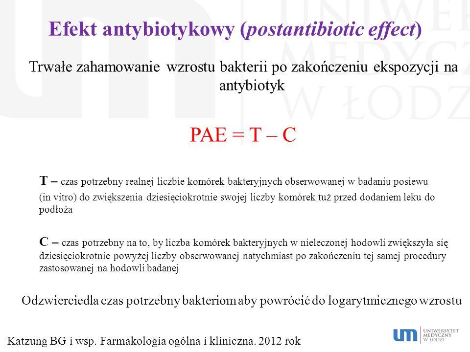 Efekt antybiotykowy (postantibiotic effect)