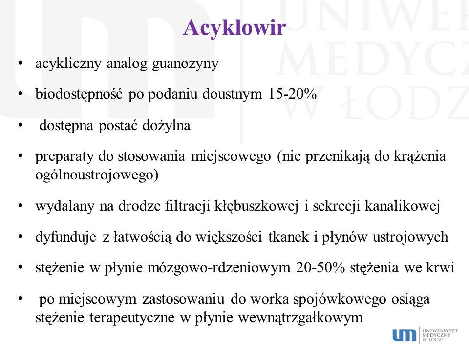 Acyklowir acykliczny analog guanozyny