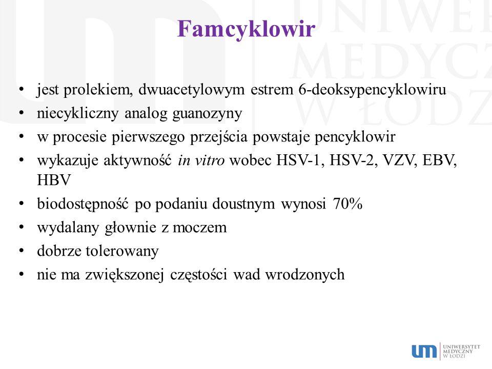 Famcyklowir jest prolekiem, dwuacetylowym estrem 6-deoksypencyklowiru