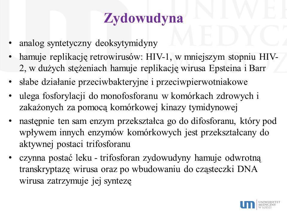 Zydowudyna analog syntetyczny deoksytymidyny