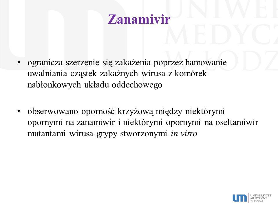 Zanamivir ogranicza szerzenie się zakażenia poprzez hamowanie uwalniania cząstek zakaźnych wirusa z komórek nabłonkowych układu oddechowego.