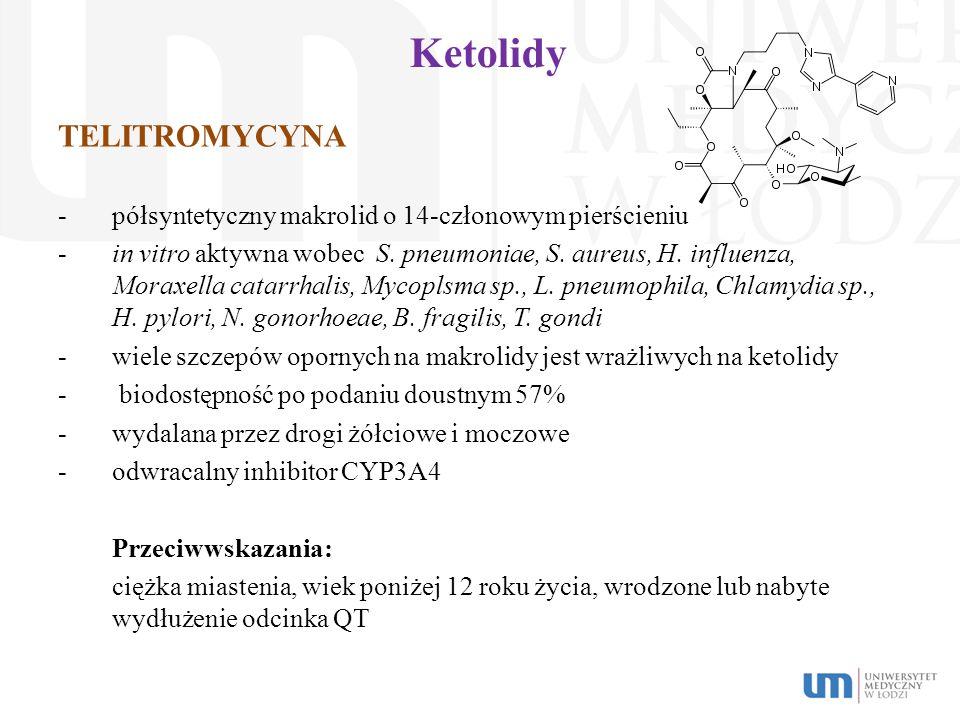 Ketolidy TELITROMYCYNA