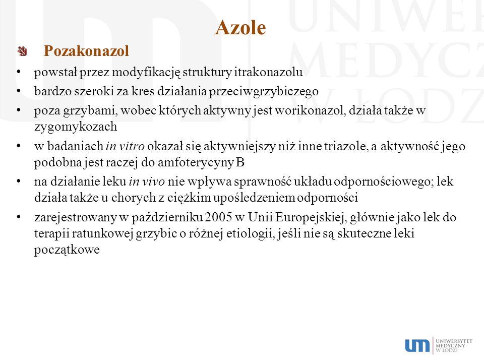 Azole Pozakonazol powstał przez modyfikację struktury itrakonazolu