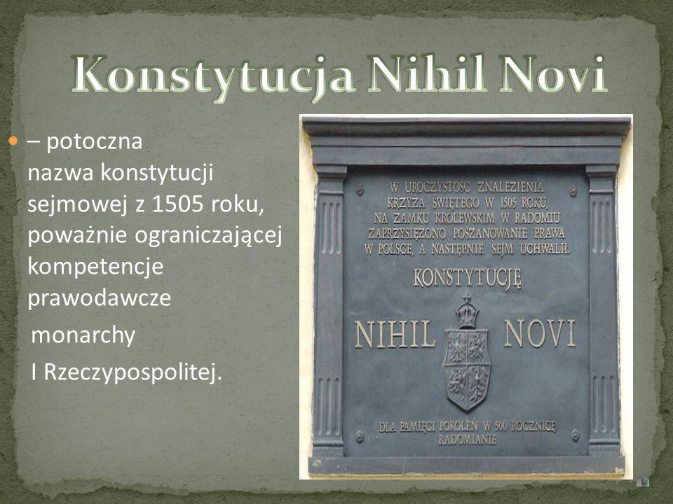 Konstytucja Nihil Novi