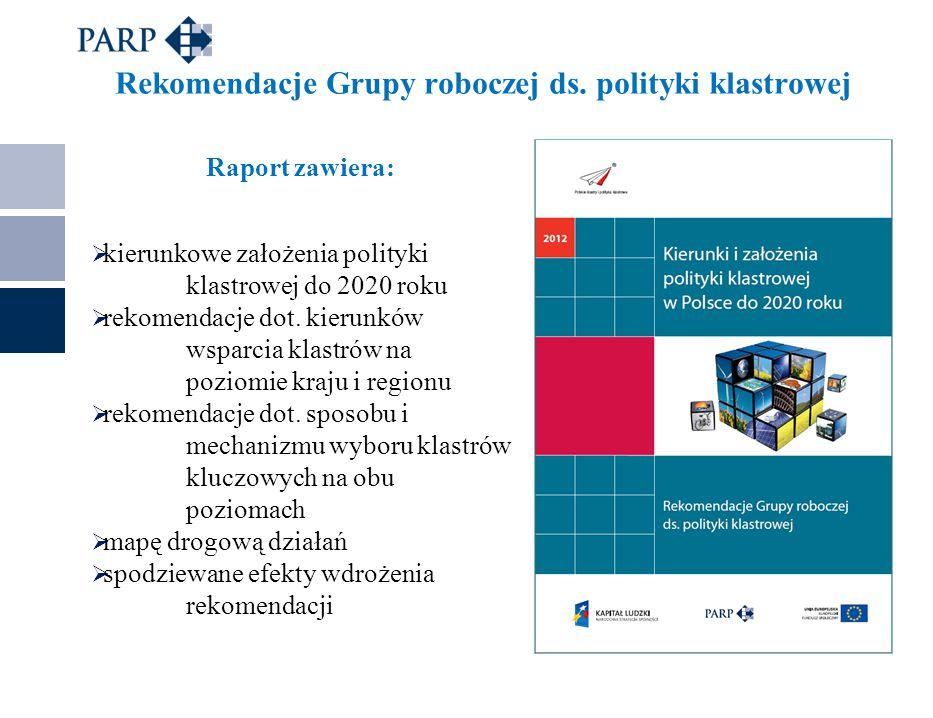 Rekomendacje Grupy roboczej ds. polityki klastrowej