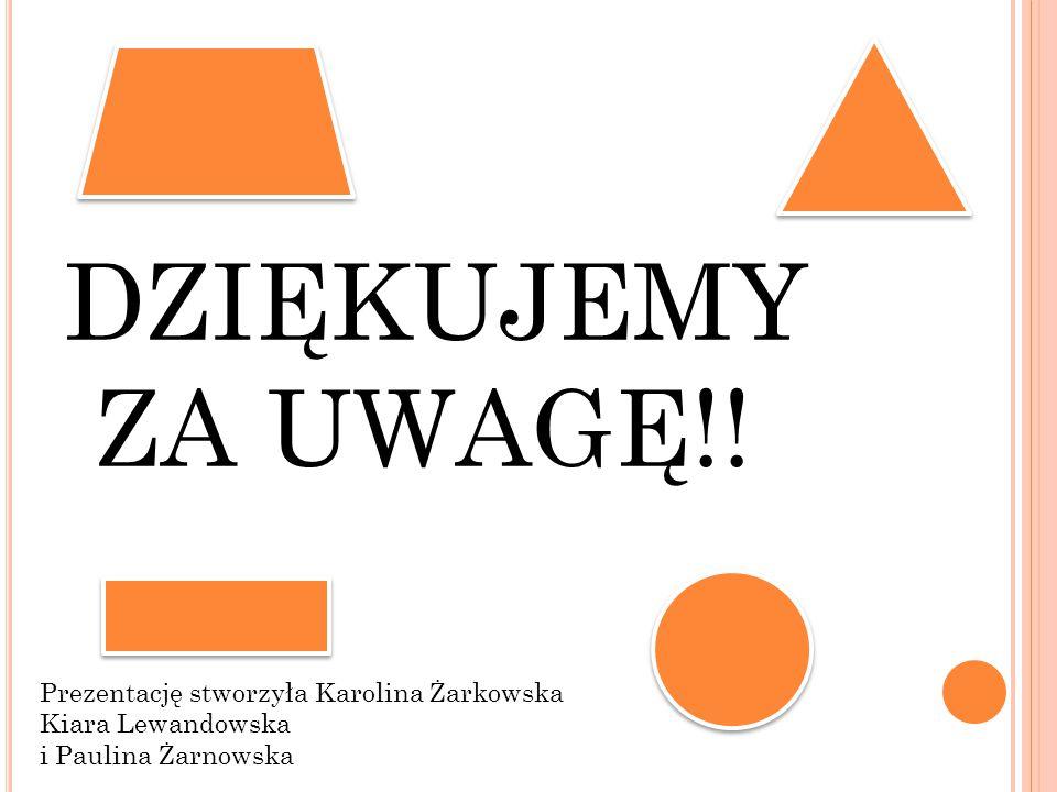 DZIĘKUJEMY ZA UWAGĘ!! Prezentację stworzyła Karolina Żarkowska