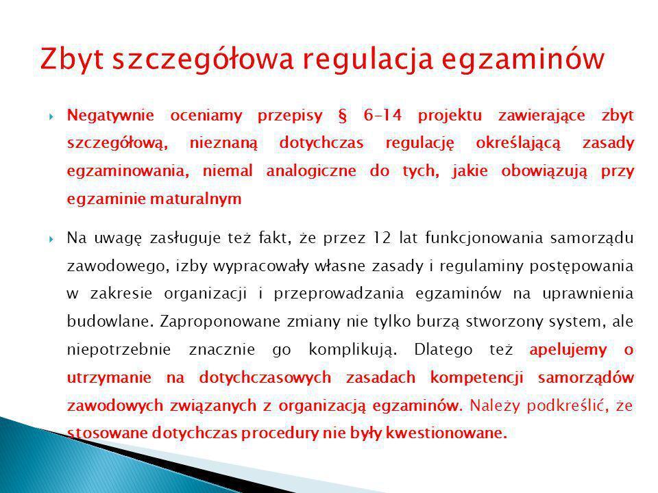 Zbyt szczegółowa regulacja egzaminów