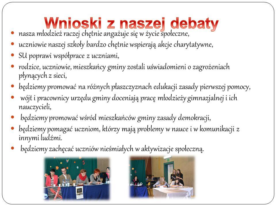 Wnioski z naszej debaty