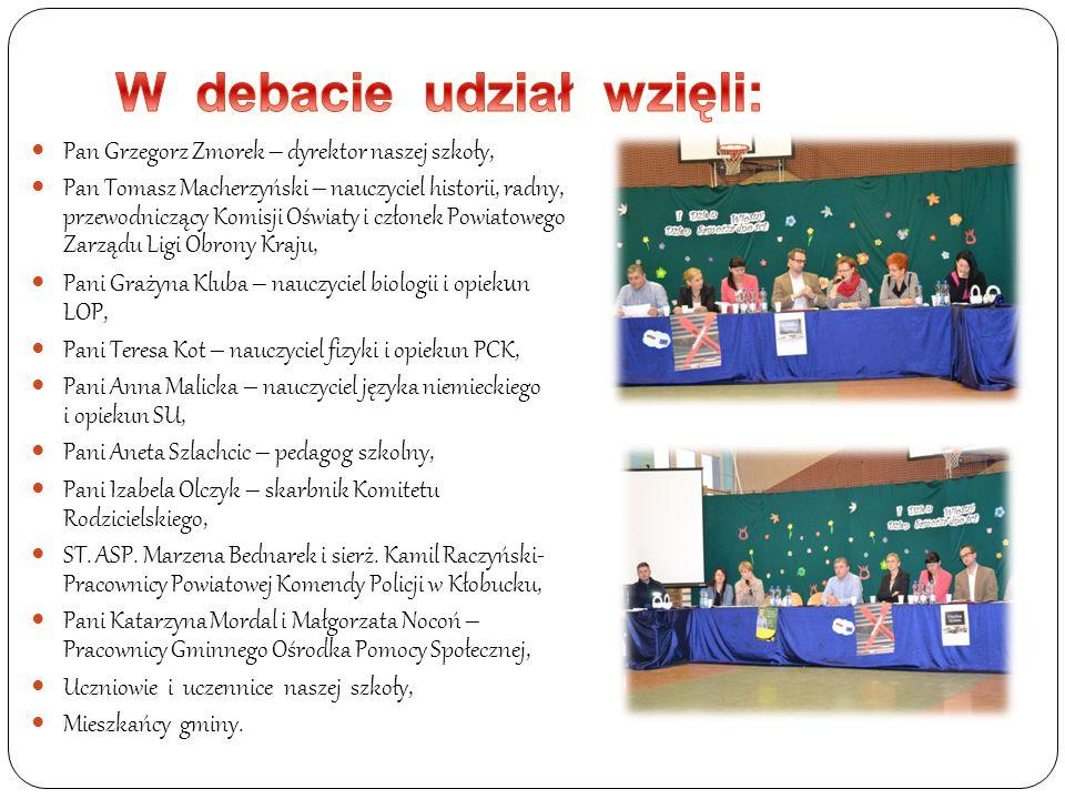 W debacie udział wzięli: